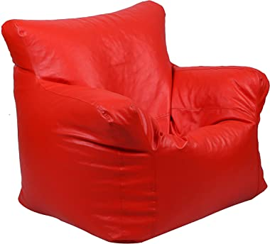 TIMBER CHEESE Designer Bean Bag Sofa Cover (Without Beans, with Warranty ) Make in India Concept (Red, XXXL)