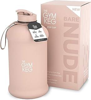 The Gym Keg Sports Water Bottle (2.2 L) Insulated   Half Gallon   Carry Handle   Big Jug Sport, 64oz Hydro Jug, Large Reus...