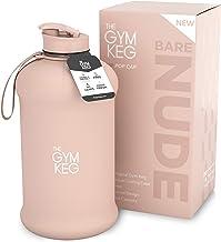 The Gym Keg Officiële sportbidon (2,2 L) geïsoleerde hoes | ingebouwde draaggreep | fitness, lichaamsbeweging, grote fitne...