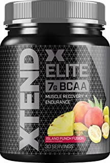 Xtend Elite Bcaa Powder Island Punch Fusion | Sugar Free Post Workout Muscle Recovery Drink with Amino Acids | 7g bcaas for Men & Women | 30 Servings