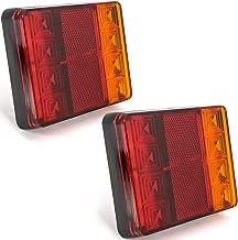 Ourbest Truck Tail Light Caravan Indicator Lights Trailer Tail Lights 12V 24V Universal Brake Tail Signal Stop Lights for RV Boat(Pack of 2)