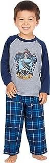 Pajamas Little And Big Boys' Raglan Shirt And Plaid Pants Set -Gryffindor, Ravenclaw, Slytherin, Hufflepuff