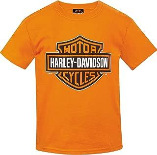 Harley-Davidson Military - Youth Bar & Shield Orange T-Shirt | Camp Humphreys