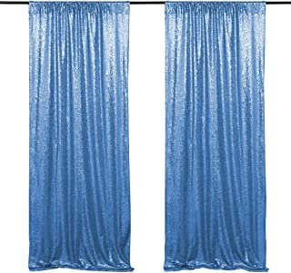 Baby Blue Sequin Photo Backdrop Wedding Party Photography Background 2ftx8ft Shimmer Ceremony Background Two Pieces