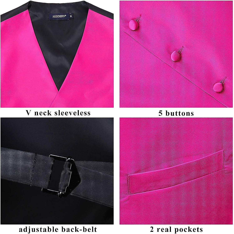 Mens Vests Dress Solid Suit Vest for Men 3pc Waistcoat /& Tie and Pocket Square Vest Suit Tuxedo Set Wedding Party