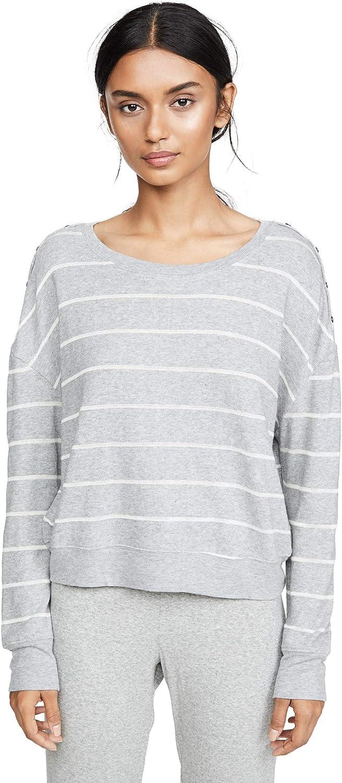 Splendid Time sale Women's Fees free Shoulder Placket Pajama Sweater Lounge