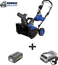 Snow Joe iON18SB-HYB 40-Volt iONMAX Hybrid Brushless Single Stage Snowblower Kit |..