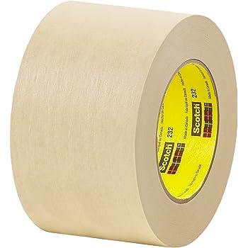 3M 2364 Performance Masking Tape Pack of 250 Crepe Paper 5.5 Circles HD-5.5-250 Tan