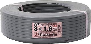 富士電線工業 低圧配電用ケーブル(VV-F) VVF 3C×1.6mm(灰)100m