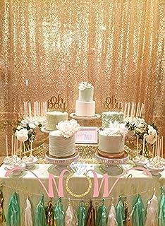 trlyc 8ft von 8ft Shimmer Pailletten Stoff Fotografie Hintergrund für Hochzeit Farben sind erhältlich 8ft*8ft sequin backdrop gold