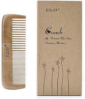 Madera peine premiume naturales peine Vello corporal peine pelo, con dos diseños diferentes de dientes peines