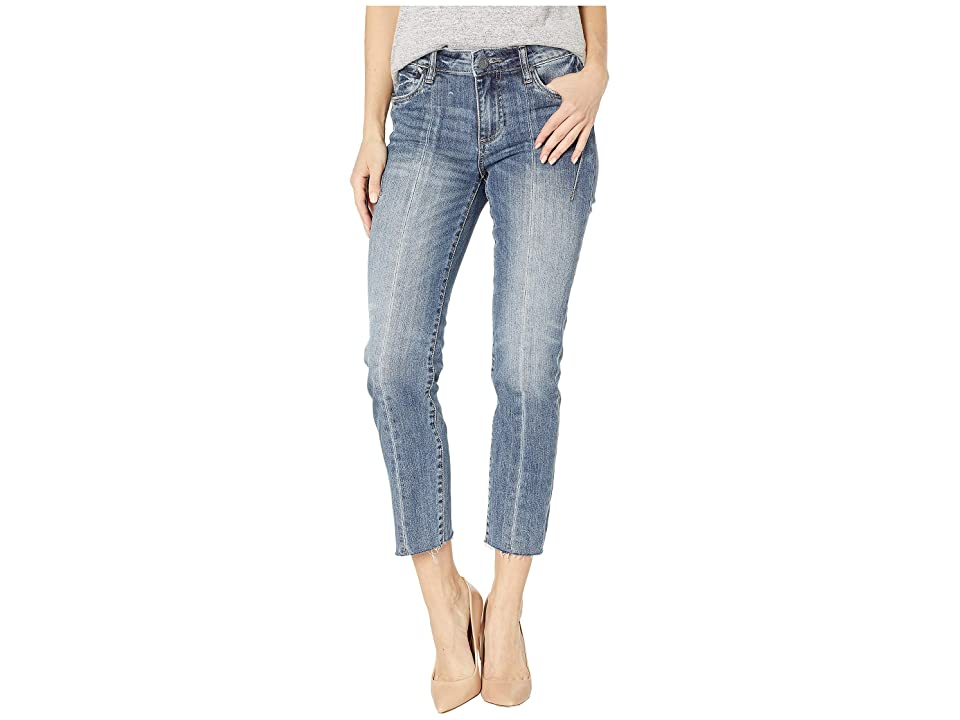 KUT from the Kloth Catherine Ankle Straight w/ Front Seam in Often/Dark Stone Base Wash (Often/Dark Stone Base Wash) Women