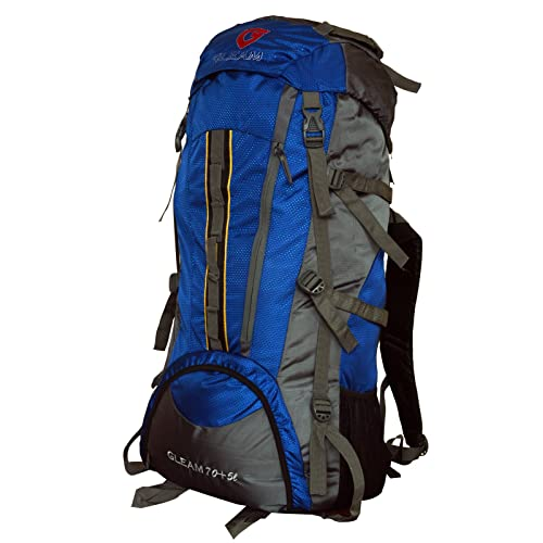 Gleam 2209 Climate Proof Mountain Trekking   Rucksack Backback 75Litres Sky  Blue   Grey with Rain 5bafb39adc064