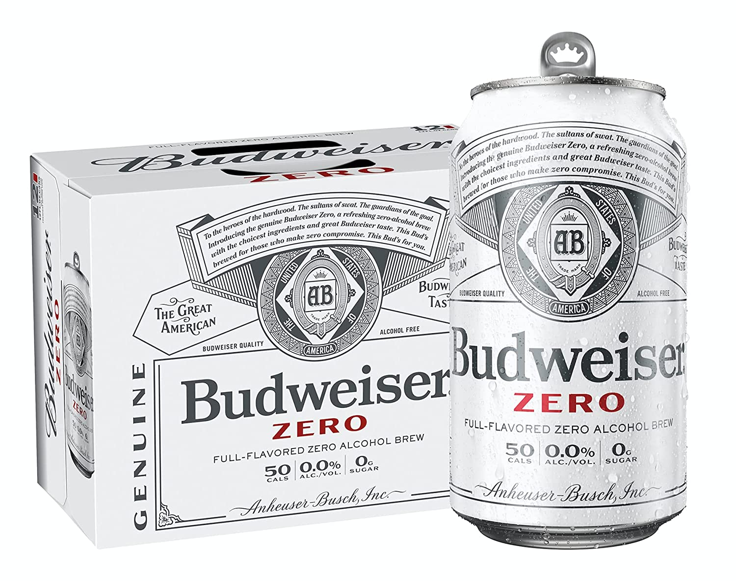 Pack of 12 Budweiser Full Flavored Brew AL Limited time for free shipping Zero 0.00% Mail order cheap Alcohol