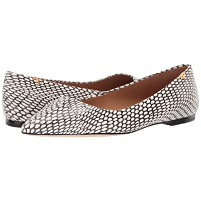 Tory Burch Penelope Cap-Toe Flat (King Cobra/King Cobra) Women