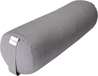 Sol Living 100% Organic Cotton Yoga Bolster, Cylindrical Yoga Cushion for Full Back Support and Core Stability, Durable Eco-Friendly Yoga Accessory