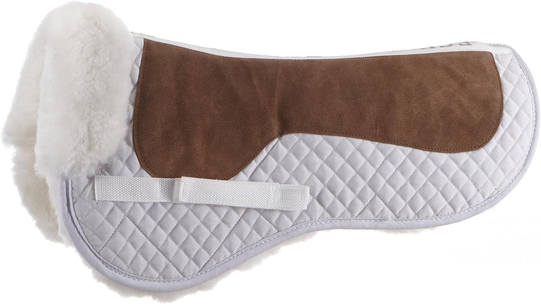 55% OFF ECP It is very popular Sheepskin Classic Suede Top Half - Medium White Saddle Pad