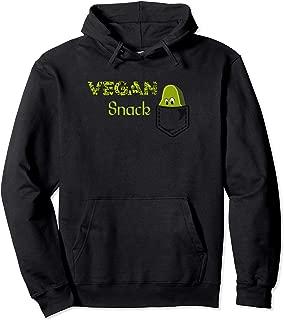 Cartoon Vegan Snack Avocado Fruit Healthy Food Pocke Pullover Hoodie