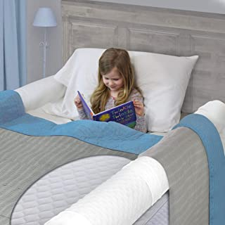 Extra Long [2-Pack ] Bed Rails for Toddler | Soft Foam Bed Bumper for Kids, Special Needs, Elderly | Baby Bed Guard | Child Bed Safety Side Rails with Water Resistant Washable Cover [Extra Long]