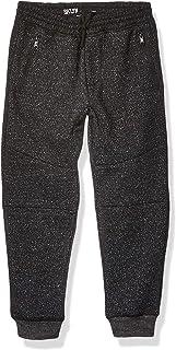 Boys' Big Fleece Jogger Pants Active Zipper Pocket Sweatpants, Onyx Marl, 6