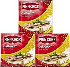 Finn Crisp Caraway Thin Rye Crispbread w/ Caraway Pack Of 3