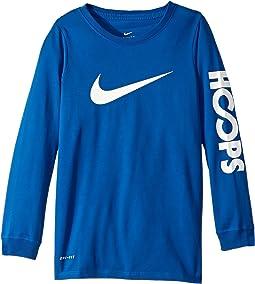 Nike Kids - Dry Hoops Basketball Long Sleeve Tee (Little Kids/Big Kids)