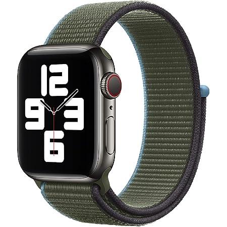 METEQI バンド 対応 Apple Watch,しいナイロン スポーツループバンド ストラップ 交換バンド for Apple Watch Series 6/5/4/3/2/1/SE (38mm/40mm, ダークオリーブ)