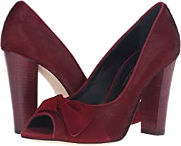 Claret Pony Hair/Suede/Patent Leather