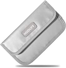 Fireproof Faraday Bag, RFID Signal Blocking Bag Shielding Pouch Money Wallet Case for Cell Phone Privacy Protection and Car Key FOB (Gray)