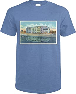 Rock Island, Illinois - Exterior View of the New Armory 26743 (Heather Royal T-Shirt XX-Large)