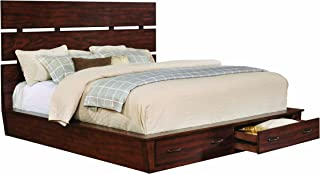 Artesia Eastern King Platform Bed with Storage Footboard Dark Cocoa