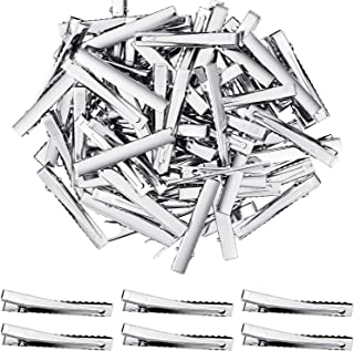 200 Pieces Alligator Hair Clips Metal Duck Bill Hair Clips Flat Top Single Prong Hairpins for Hair Styling DIY Accessories (2.95 inch)
