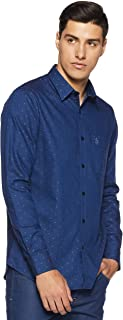 US Polo Men's Solid Slim Fit Casual Shirt