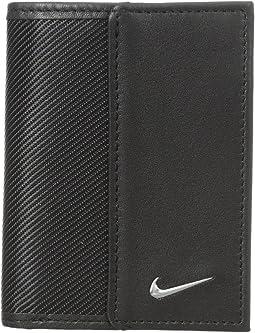 Nike - Nike Leather/Tech Twill Credit Card Fold