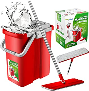 Green Blue GB850 MaxiCleanSet + 2x vadrouille plate vadrouille et seau 2 en 1 vadrouille (GB850+2xGB851)