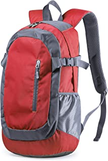 Mochila técnica Ultra Ligera en Resistente combinación de poliéster 210D y Ripstop Impermeable. para Senderismo, Excursiones, Montaña, Trekking, Acampar, Correr, Ciclismo - 32x47x28