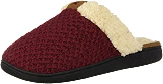 [Dearfoams] Women's Textured Knit Closed Toe Scuff Slipper