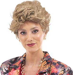 Toynk The Golden Girls Officially Licensed Blanche Costume Cosplay Wig