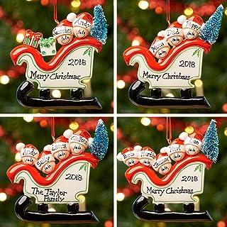 Personalizzata Ornamento decorativo della bagattella dell'albero di Natale di natale della famiglia | Famiglia Slitta | Gr...