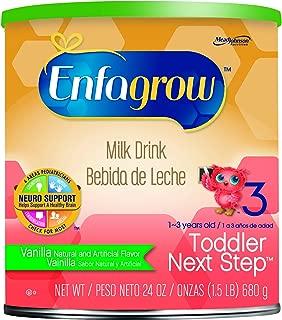 Enfagrow Toddler Next Step Vanilla Milk Drink - 24 oz Powder Can (Pack of 3)