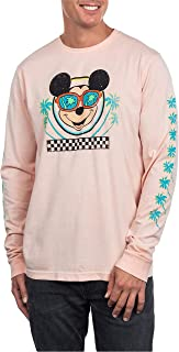 Disney Mickey Mouse Men's Long Sleeve Palm Trees Graphic Tee