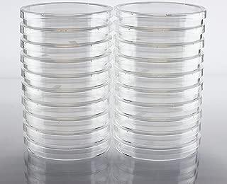 5 petri dishes that contain sterile agar