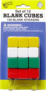 Koplow Games KOP17586 Blank with Stickers Dice Game Set
