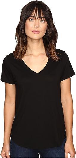 Pima Modal Short Sleeve V-Neck