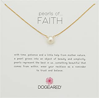 "Dogeared Pearls of Faith Large Button Necklace, Gold Filled, 16"" + 2"" Extension"