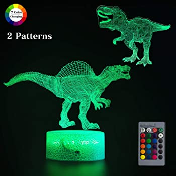 Pehohe 3D Dinosaur Night Light