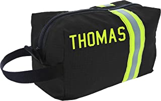 Personalized Firefighter Black Turnout Gear Toiletry Bag