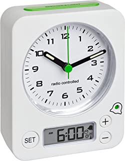 Blooming Weather analog väckarklocka med radiostyrd tid, flera färger, 10,5 x 4 x 12 cm