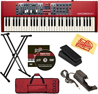 Nord Electro 6D 61-Key Stage Piano Bundle with Soft Case, Adjustable Stand, Expression Pedal, Sustain Pedal, Austin Bazaar Instructional DVD, and Polishing Cloth