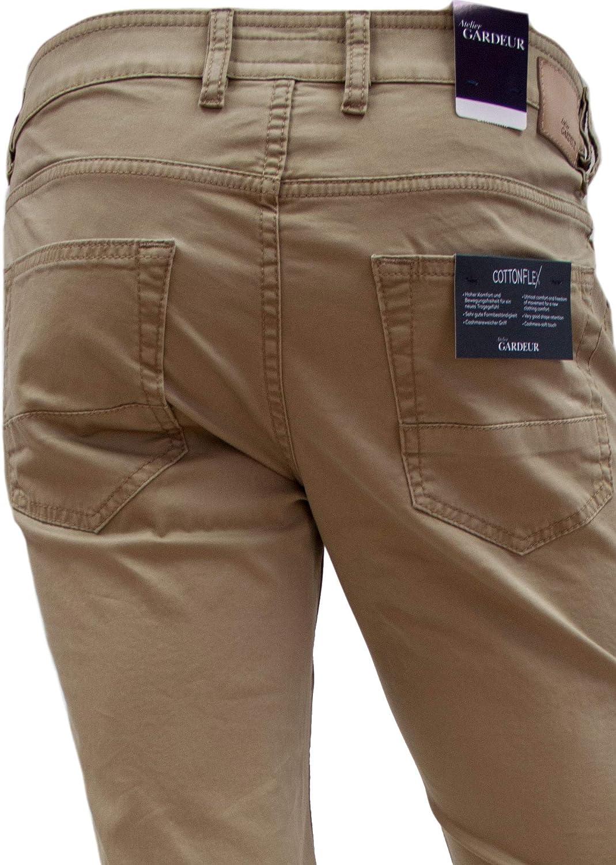 Atelier GARDEUR Bill-2 Cottonflex Modern-Fit Pantalon pour homme Beige (Camel 18).